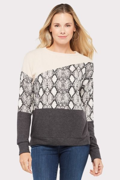 Allison joy Theo Snake Colorblock Sweatshirt