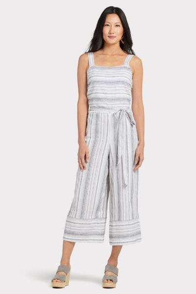 Beachlunchlounge Talia Striped Jumpsuit