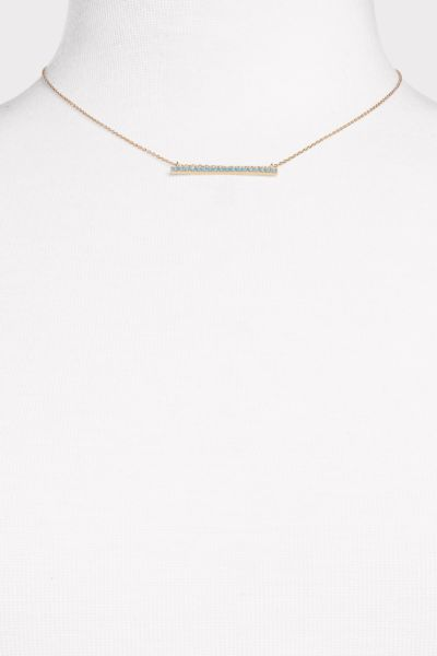 Thirty-nine 42 Gia Turquoise Bar Necklace