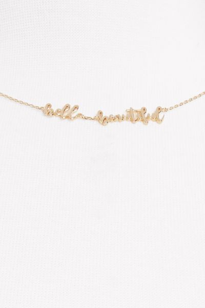 Thirty-nine 42 Hello Beautiful Delicate Necklace