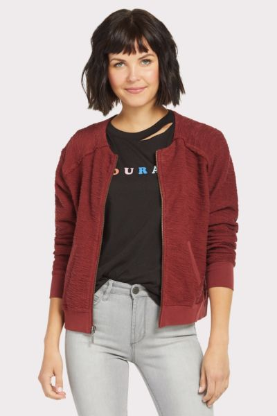Red haute Terry Bomber Jacket