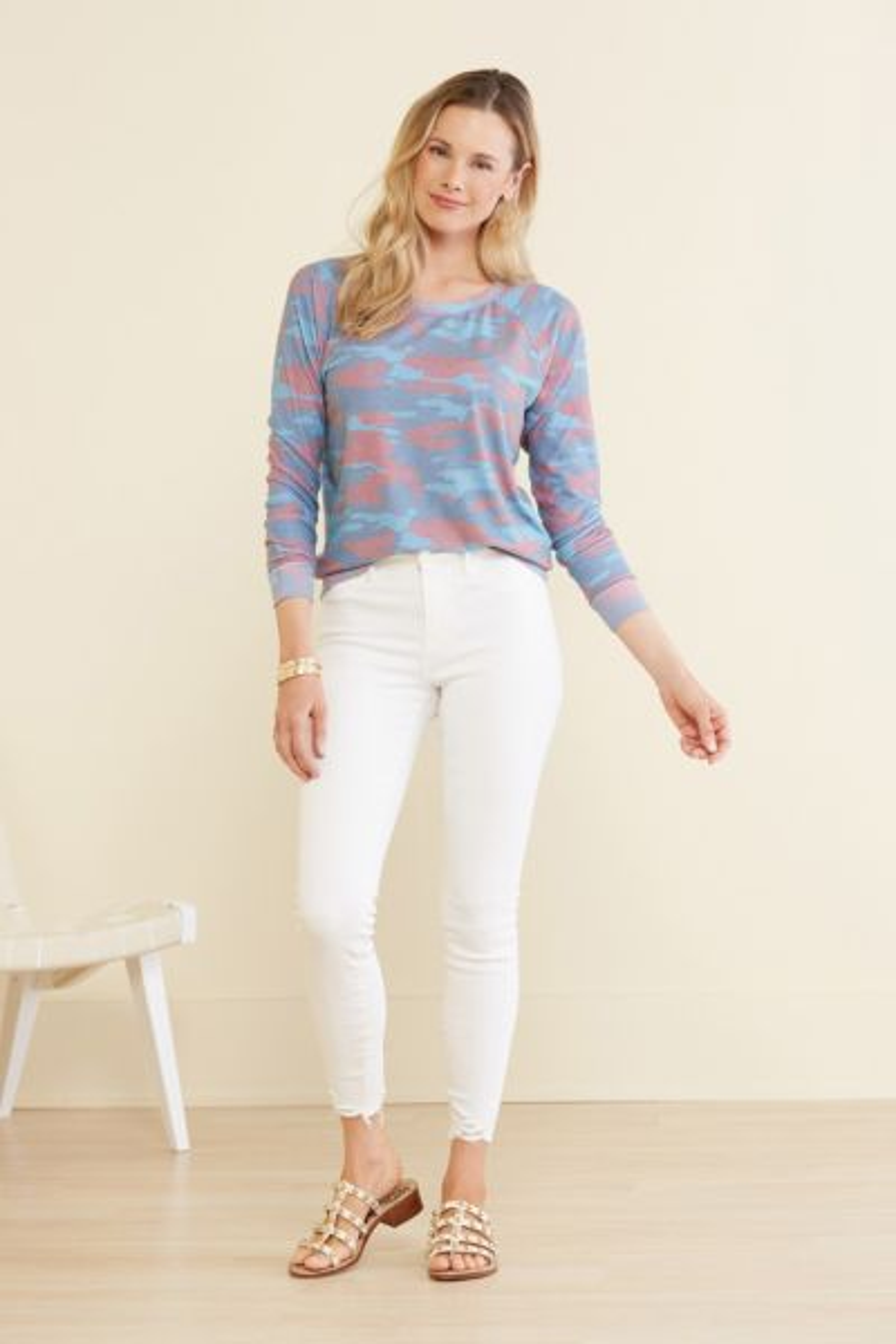 Sol angeles Camo Pullover Sweatshirt
