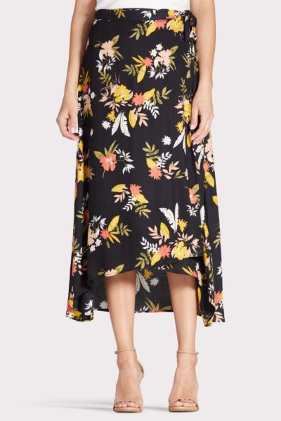Saltwater luxe Floral Wrap Skirt