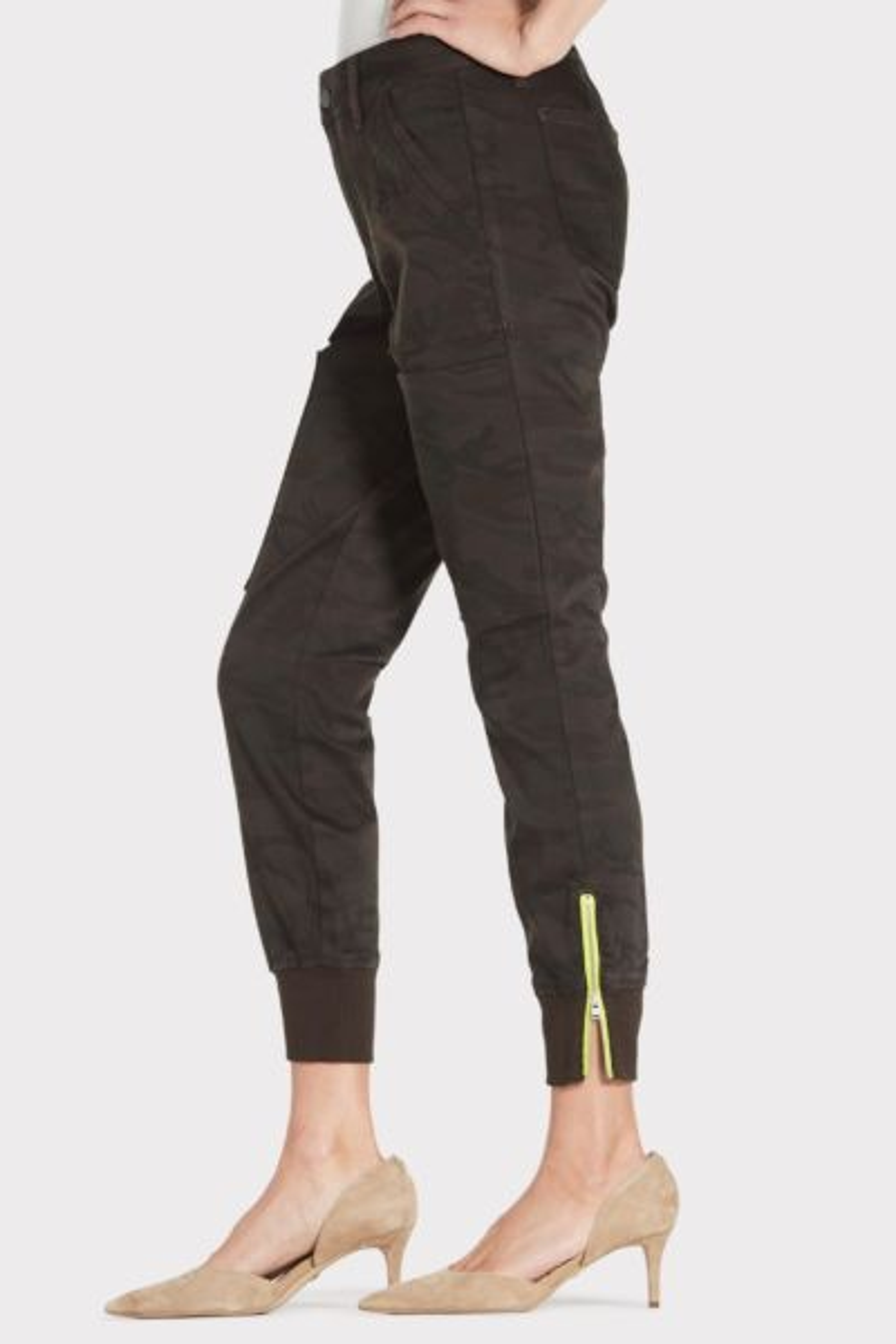 Level 99 Jolie Utility Pant with Neon Zipper