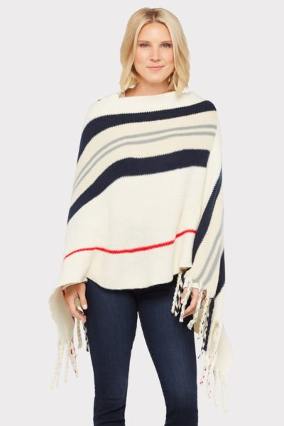 Do everything in love Lucy Striped Poncho