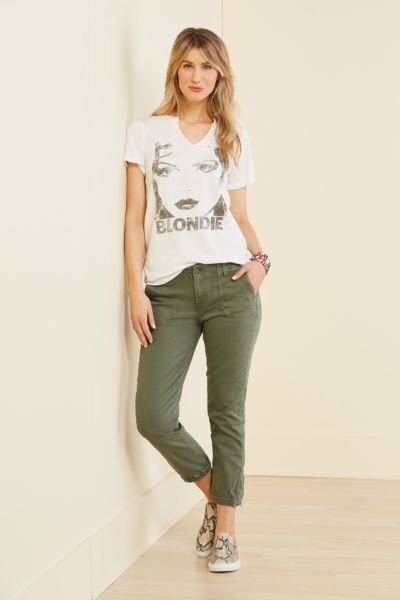 Letluv Blondie Split Neck Tee