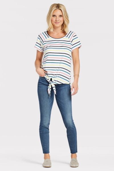 Sanctuary Stripe Lou Tie Tee