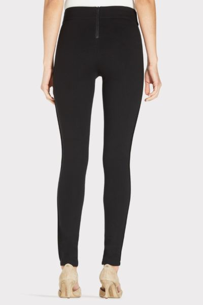 Tart Sylvia Ponte Pant with Faux Leather Trim