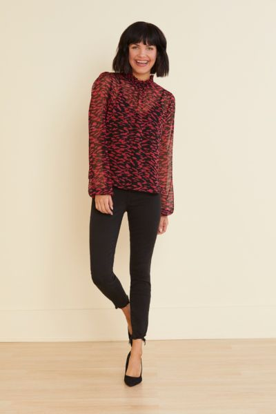 Allison joy Evan Smock Neck Blouse