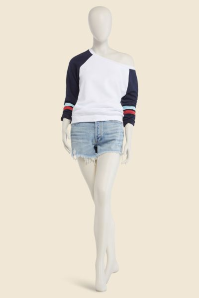 Sol angeles Varsity Off Shoulder Sweatshirt