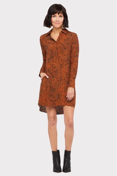 Peyton jensen Snake Skin Shirt Dress