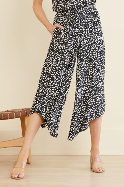 Allison joy Stella Leopard Surplice Jumpsuit