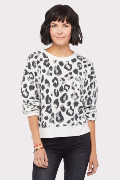 Z supply Amur Leopard Pullover Sweatshirt