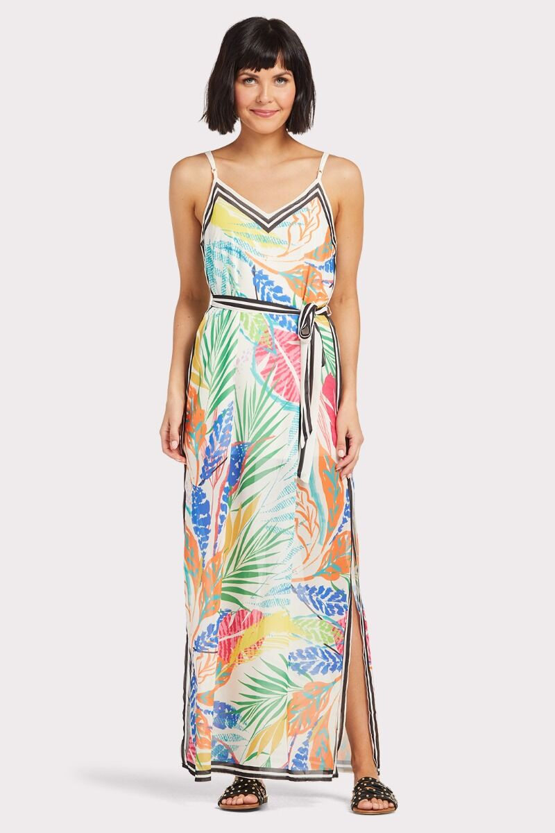 good reputation speical offer new design Tropical Print Maxi Dress