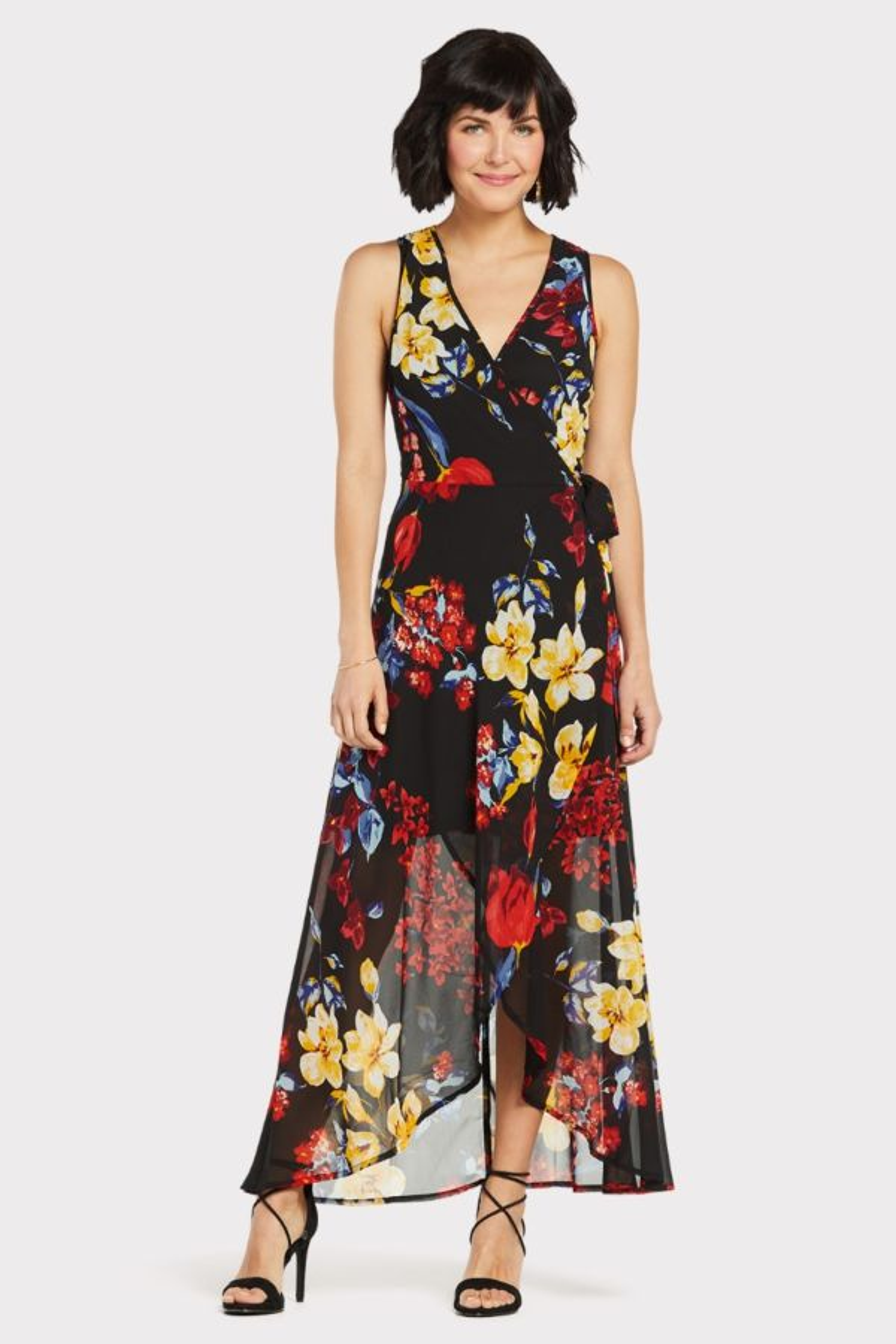 4f5fd21cbe Floral Wrap Maxi Dress