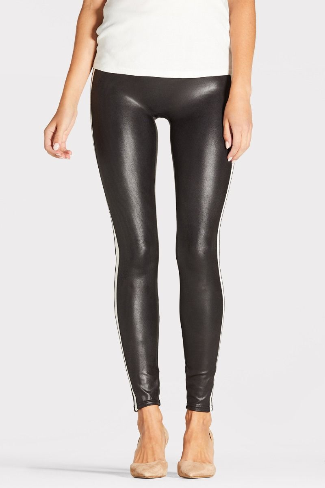 107077b044c Faux Leather Side Stripe Legging.  20187RP-VBW
