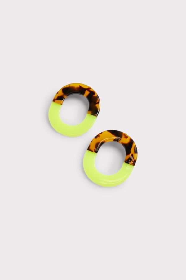 Thirty-nine 42 Savannah Tort Neon Earrings