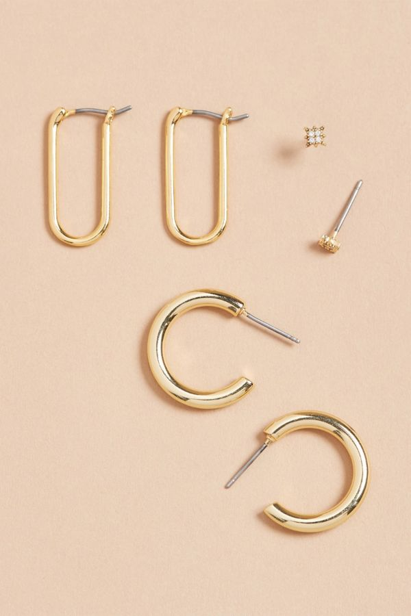 Evereve Rena Hoop Earring Pack