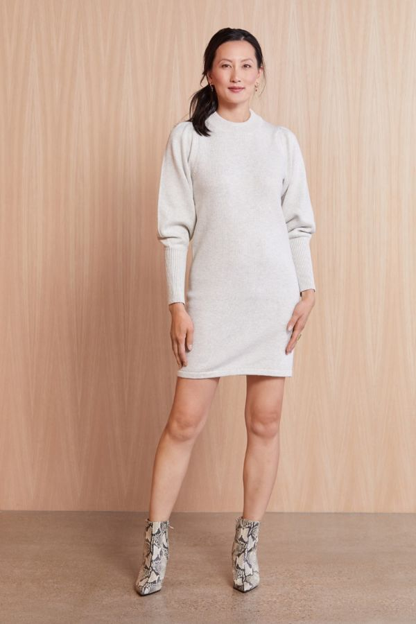 French connection Balloon Sleeve Sweater Dress