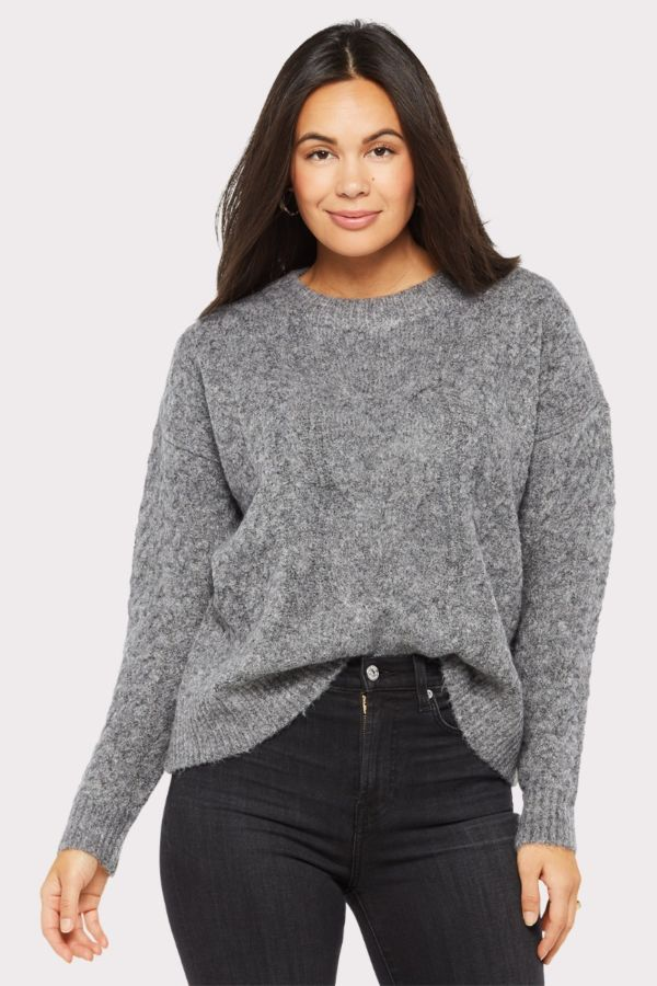 Rd style Marl Cabled Crew Sweater