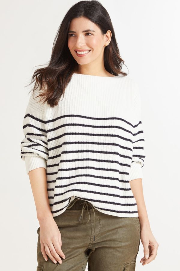 French connection Striped Motzart Pullover