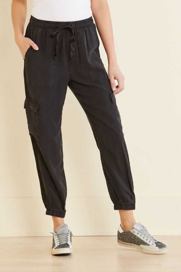 Cloth and stone Satin Trimmed Cargo Pant