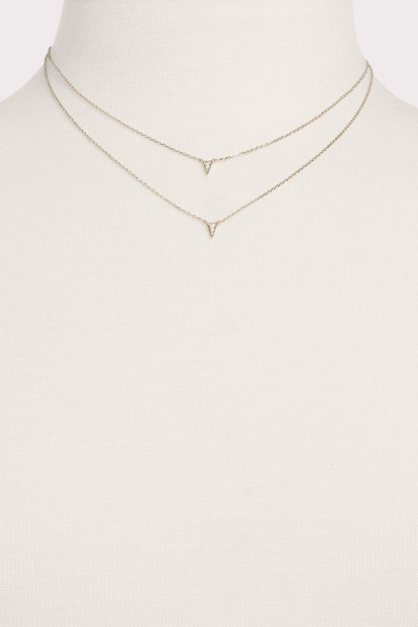 Thirty-nine 42 Double Strand Triangle Necklace