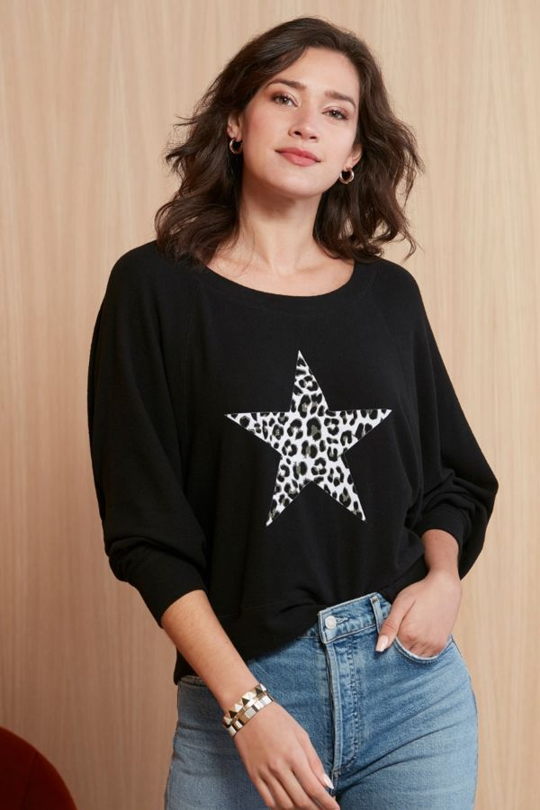 Chaser Leopard Star Pullover