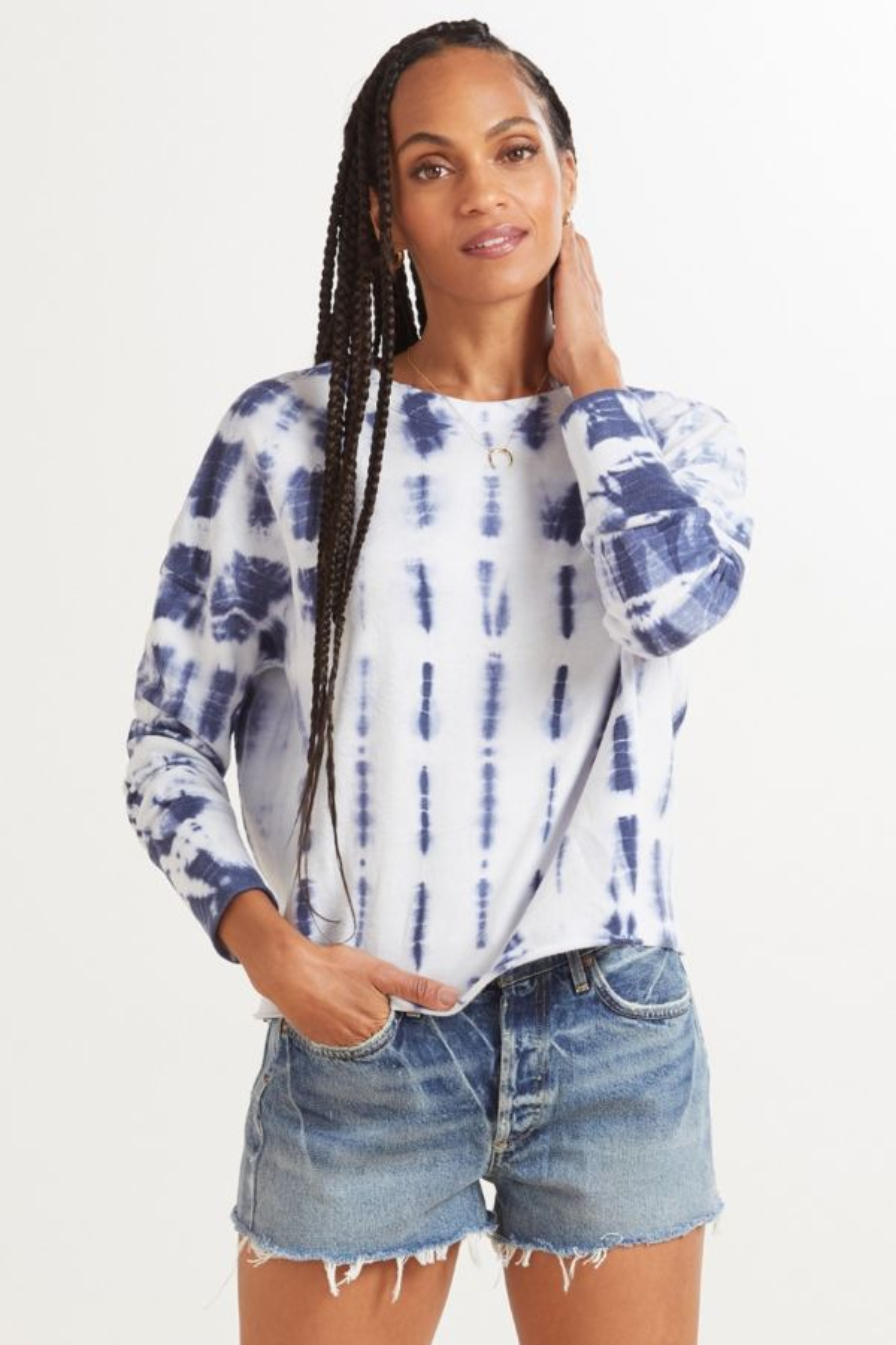 Roan + ryan Isabella Rib Mix Pullover