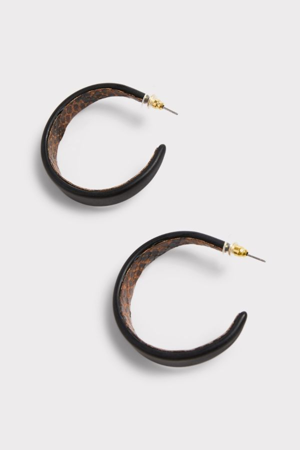 Thirty-nine 42 Jaycee Snake Hoop Earrings