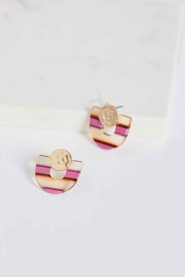 Thirty-nine 42 Rumi Striped Resin Earrings