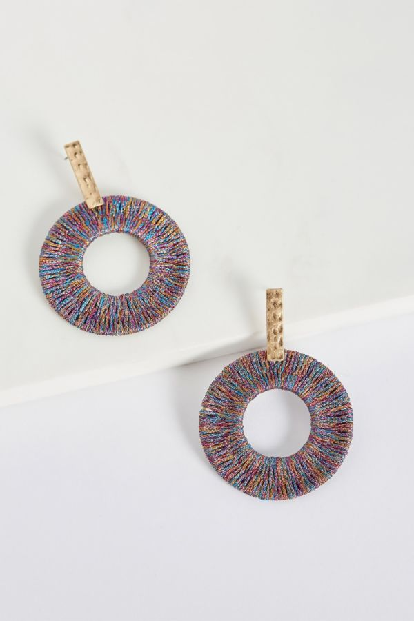 Thirty-nine 42 Callan Multi Colored Hoop Earrings