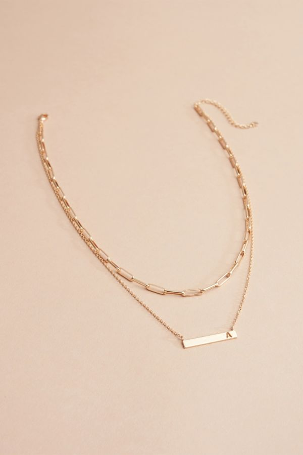 Evereve Kenzie Initial Double Strand Necklace
