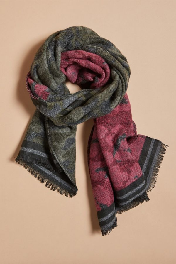 Harriet isles Melanie Camo Striped Scarf
