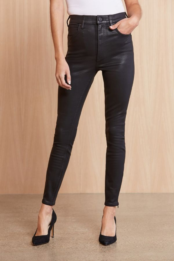 Hudson Coated High Rise Centerfold Ankle Skinny