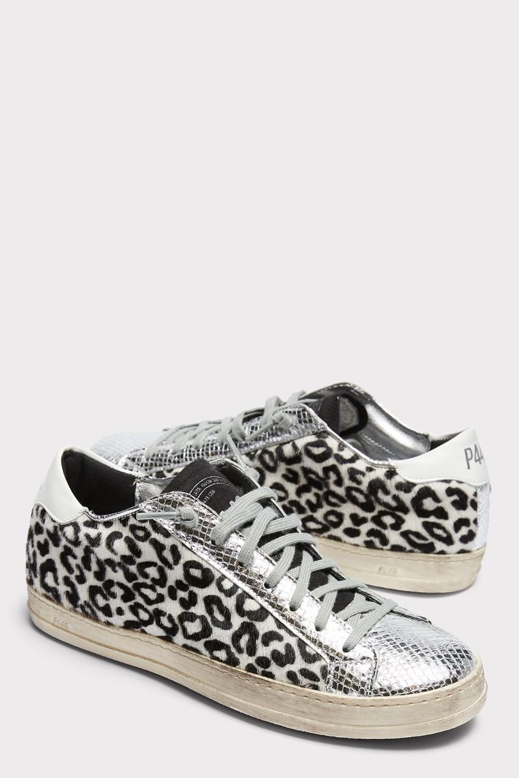 P448 Leopard Lace Up Sneaker