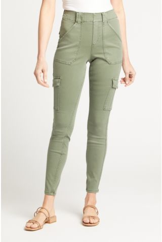 Stretch Twill Ankle Cargo Pant