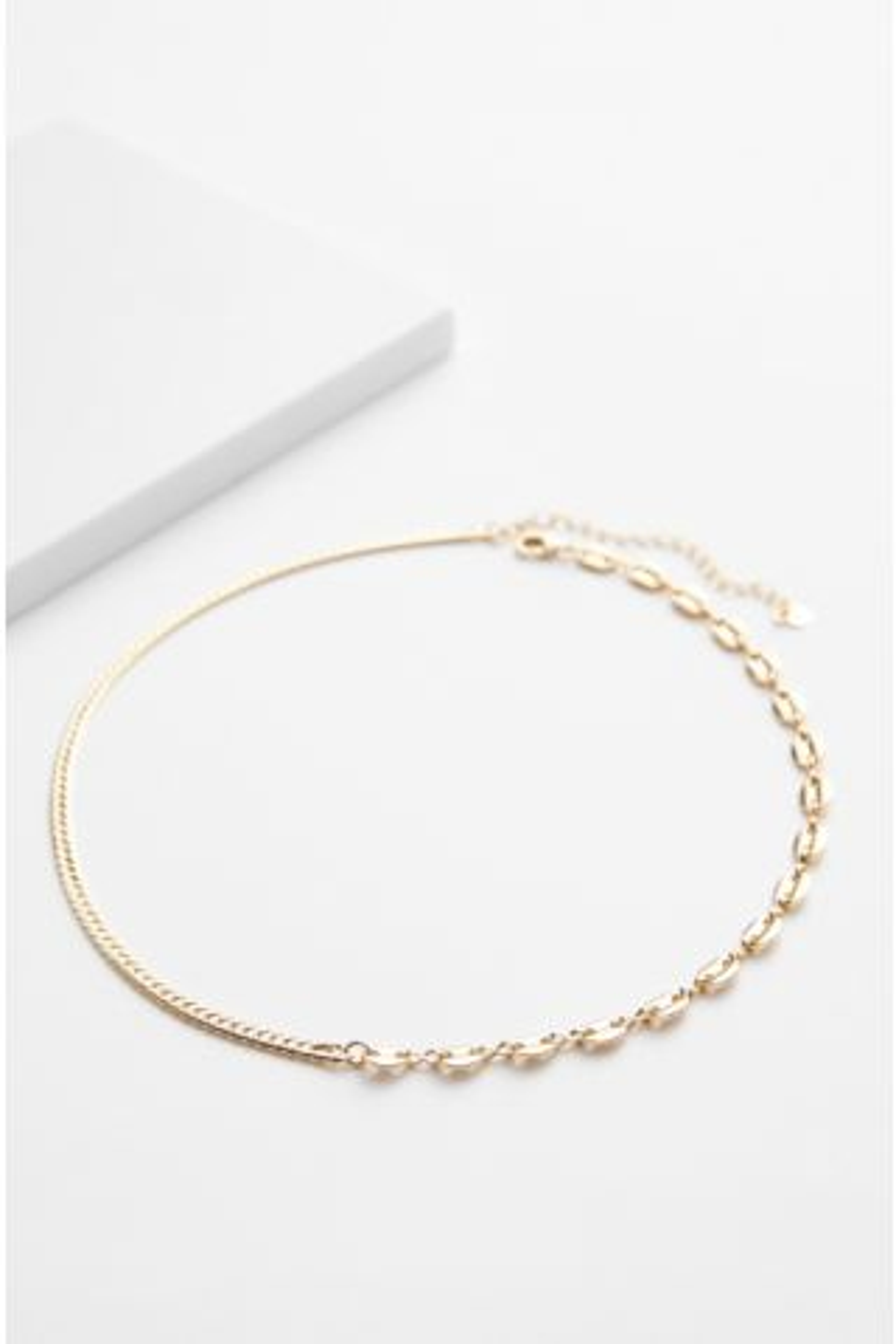 Raina Contrast Chain Necklace