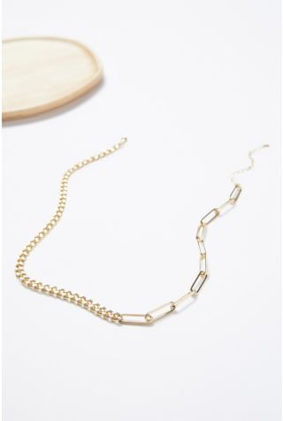 Aria Contrast Chain Necklace