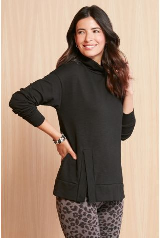 Notched Cowl Tunic
