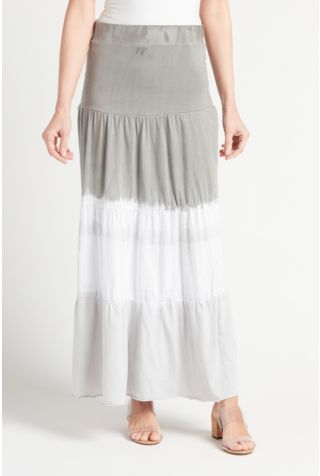 Heavenly Tiered Maxi Skirt