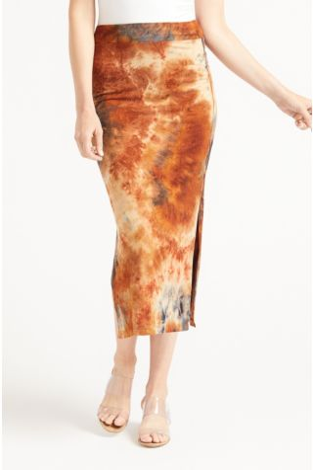 Siene Tie Dye Midi Skirt