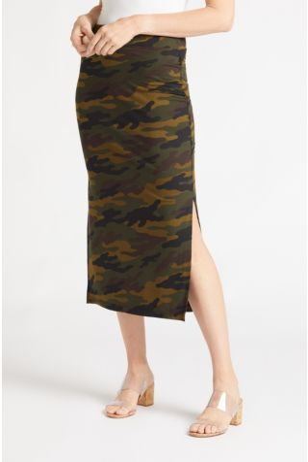 Siene Camo Midi Skirt