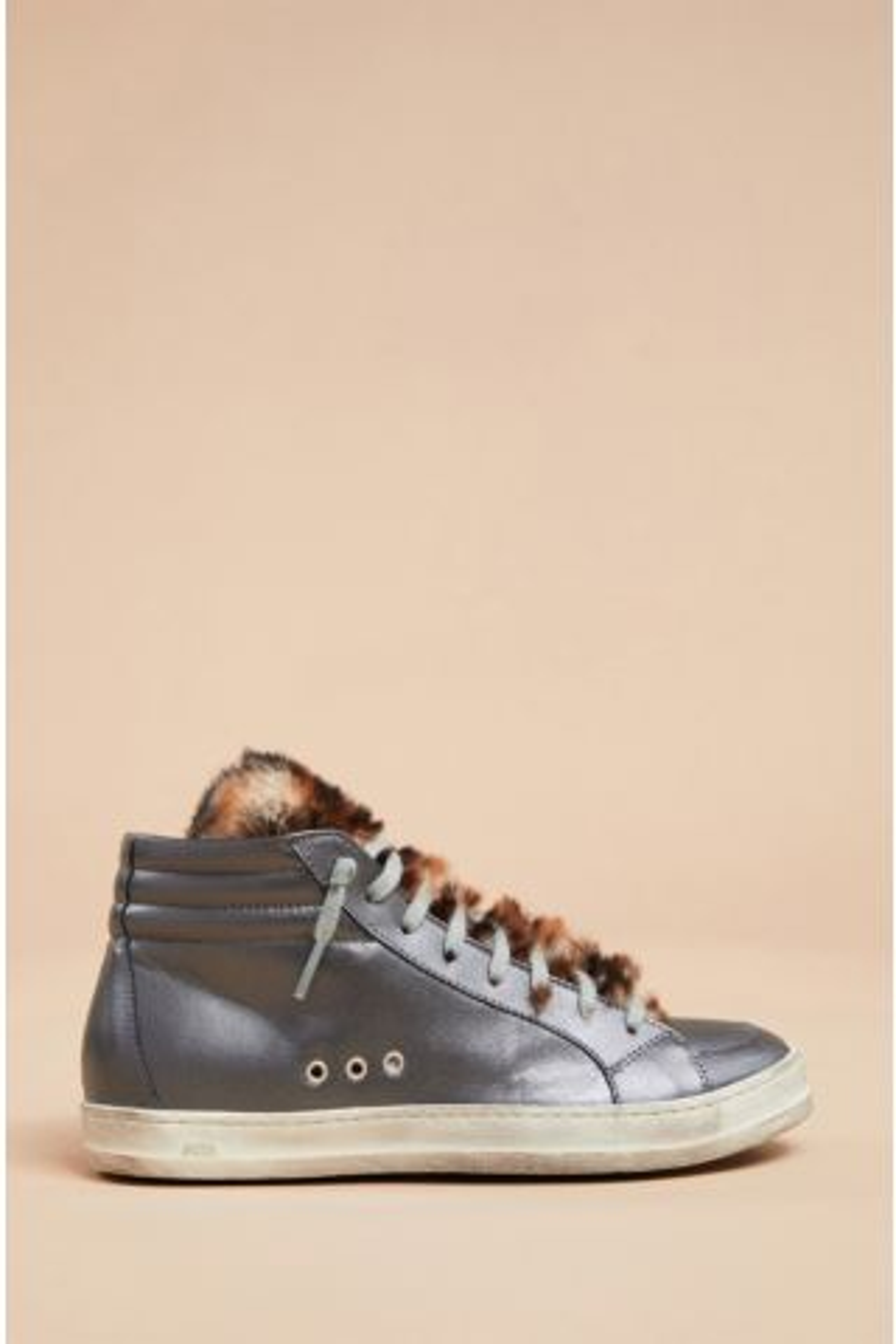 Faux Fur Tongue High Top Sneaker