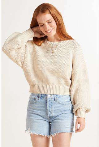 Chunky Oversized Crew Pullover
