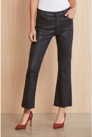 Kelsey Coated High Rise Ankle Flare