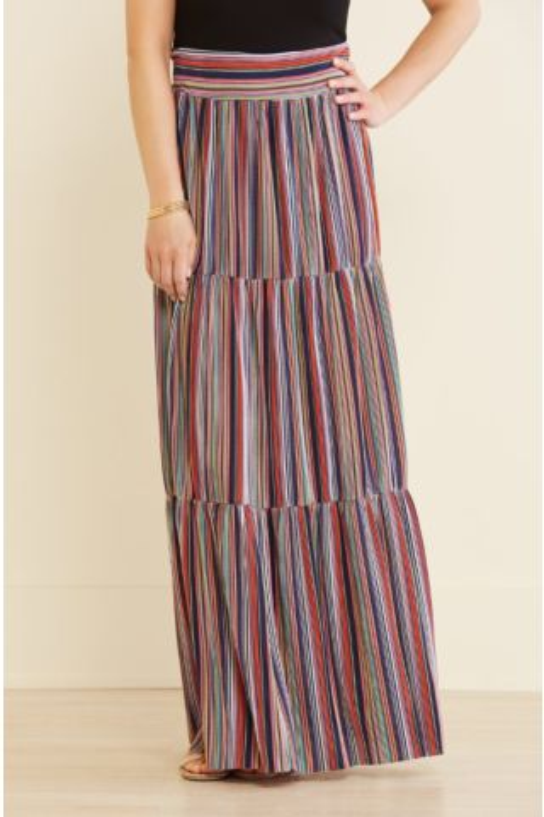 Sabrina Tiered Maxi Skirt