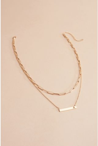 Kenzie Initial Double Strand Necklace