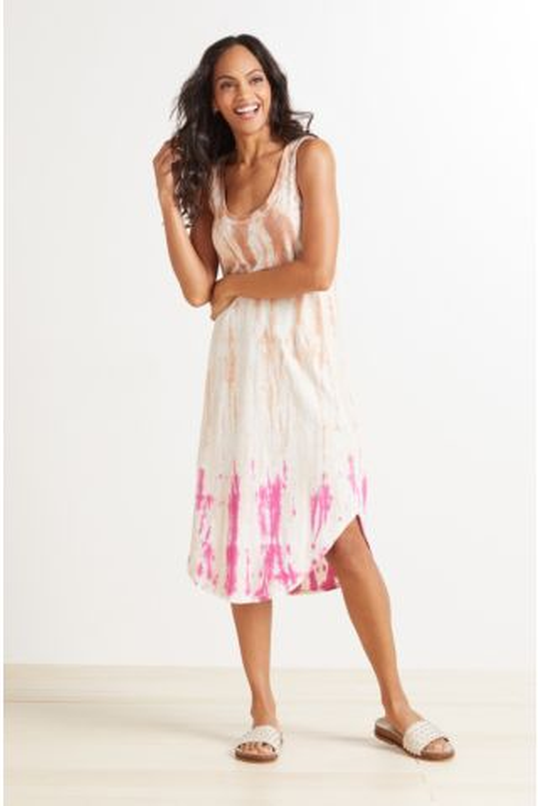 Reverie Scoop Tie Dye Dress