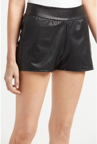 Faux Leather Relaxed Short